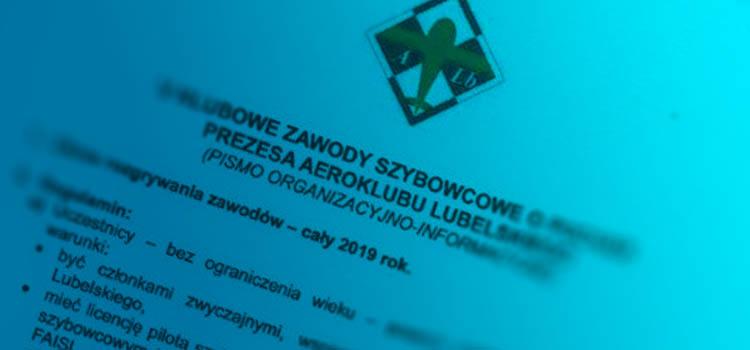 V Klubowe Zawody Szybowcowe o puchar Prezesa Aeroklubu